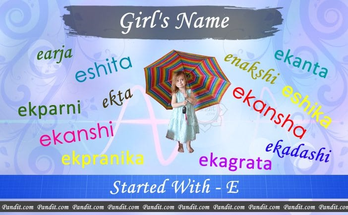 Girl's name starting with e