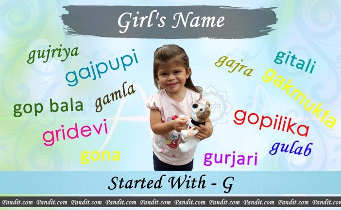 Girl's name starting with g