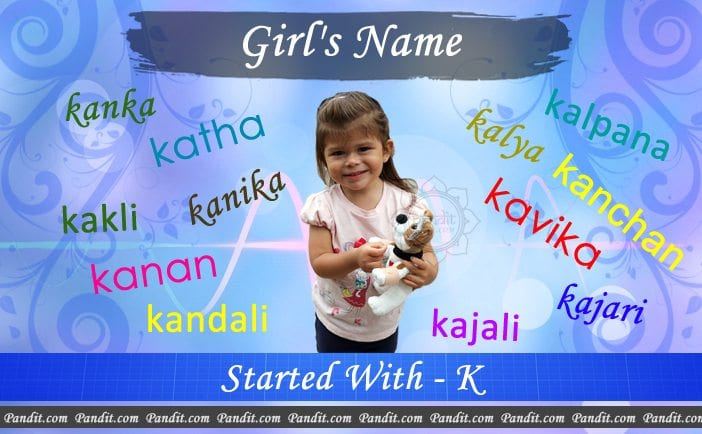 Girl's name starting with k