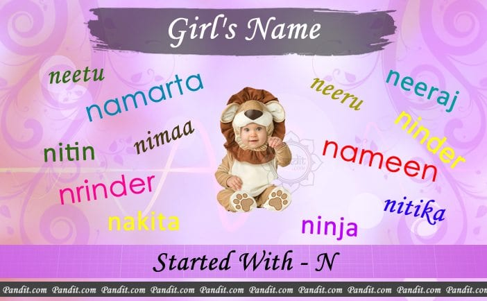 Girl's name starting with n