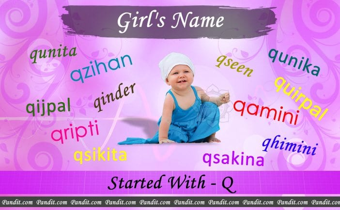 Girl's name starting with Q