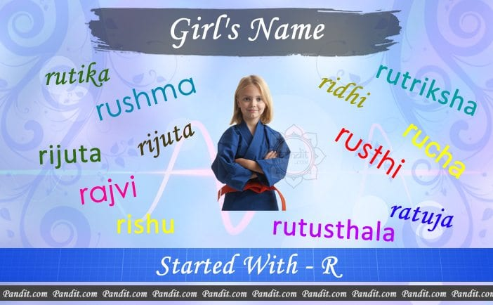 Girl's name starting with r