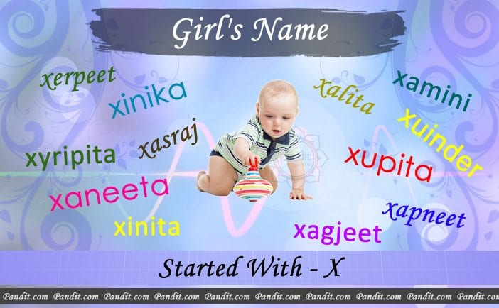 Girl's name starting with X