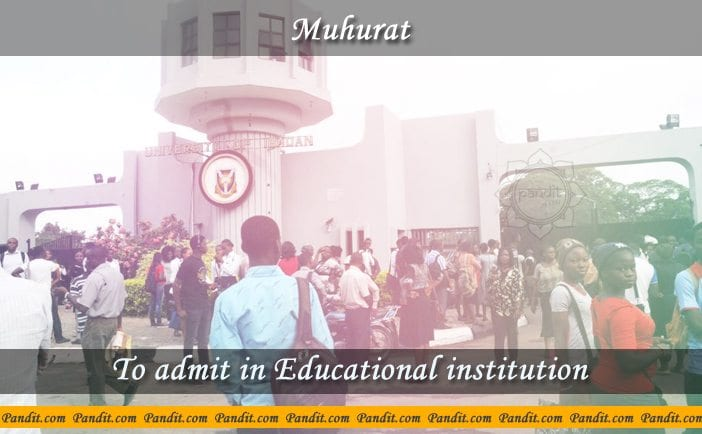 Admit In Educational Institution