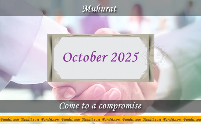 Shubh Muhurat To Come To A Compromise October 2025